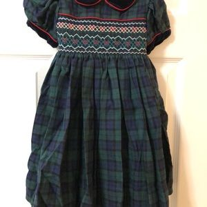 Other - Girls Christmas Smock Dress Size 12 Months NWOT